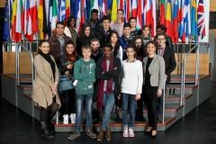 Les conseillers en visite au Parlement européen à Strasbourg, en présence de Sylvie Guillaume, députée européenne socialiste du Sud-Est