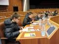 Les jeunes du CMJ dans hémicycle du Conseil général