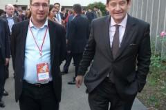 Mathieu Cahn, Président de l'Anacej et Patrick Kanner, Ministre de la Ville, de la Jeunesse et des Sports, au 10ème Congrès de l'Anacej