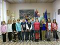 Les enfants du CME de Pexiora, accompagné de Monsieur le Maire et de Mme Pierrette Pelletier, maire adjointe référente du conseil ©Mairie de Pexiora