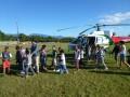 """Le survol en hélicoptère des lauréats du concours """"Nature et Biodiversité"""" ©Ville de Sainte Rose de la Réunion"""