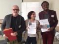 Jean-Luc Cazaillon, Directeur général des CEMÉA avec Amélie et Freddy du Comité jeunes de l'Anacej ©Anacej