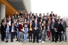 Le Conseil Municipal des Jeunes d'Istres accompagné de François Bernardini, Maire d'Istres et des élus  © Ville d'Istres