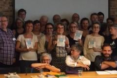 Les représentants des structures membres du Collectif AEDE réunit le 31 mai 2017 pour l'Assemblée générale d'AEDE