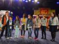 Strasbourg , quartier <Cronenbourg, Gymnase de la Rotonde, ANACEJ - 25 ans- , jeunes , citoyens, Mathieu CAHN, Camille GANGLOFF, Andre SHNEIDER, Robert HERMANN,  ANACEJ - 25 ans-ceremonie d'ouverture , acteurs , orchestre , remise deprix, animation