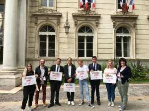 La délégation bretonne lors de la remise des Prix Anacej des jeunes citoyens 2018 ©anacej