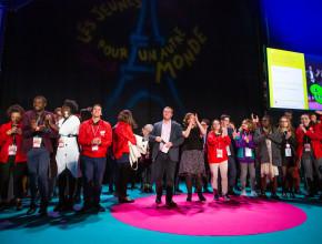 12e congrès national des conseils d'enfants et de jeunes (ANACEJ), à la Halle Carpentier à Paris, dimanche 28 octobre 2018.